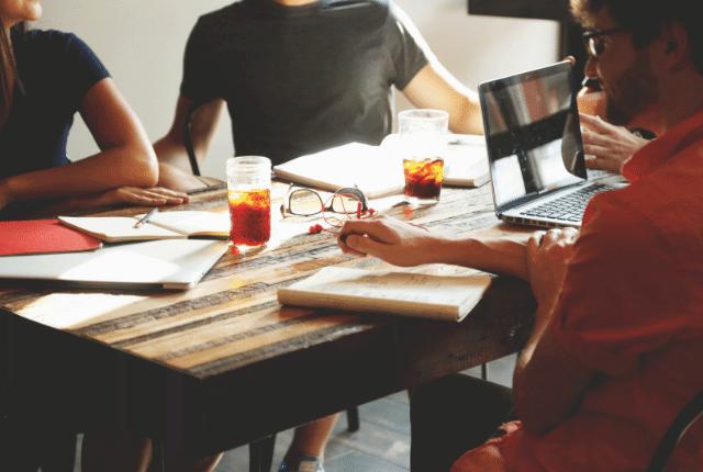 עבודה, צעירים, מחשבים, פגישה עסקית