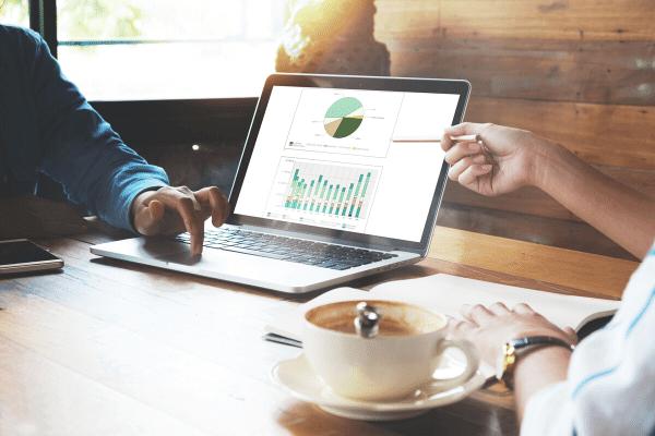 פיננסי, גרף רווחים והכנסות